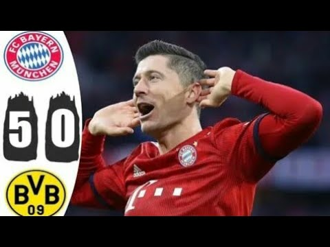 Bayern Munich 5-0 Dortmund - All Goals BundesLiga 2019, Highlights