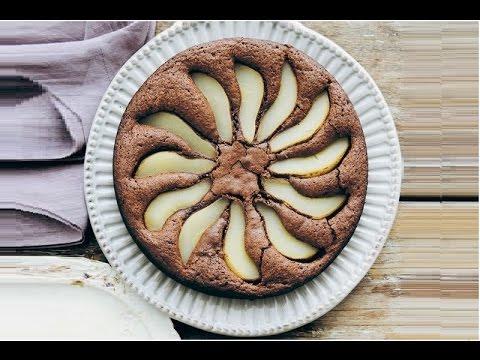 torta di pere e cioccolato, alta, morbida e soffice - la videoricetta