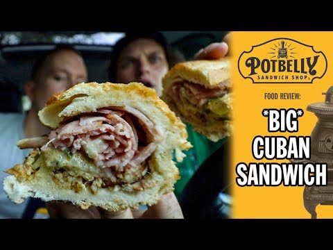 Potbelly Sandwich Shop's BIG Cuban Sandwich Food Review | Season 5, Episode 53