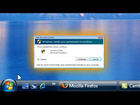 How to disable UAC (User Account Control) in Windows Vista