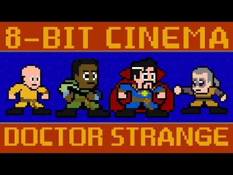 Doctor Strange as a Retro 80s Video Game