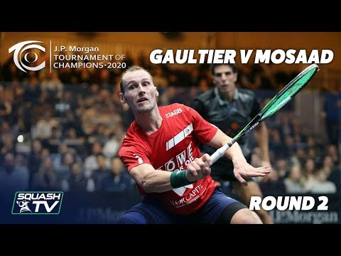 Squash: Gaultier v Mosaad - Extended Highlights - Tournament of Champions 2020 Rd 2
