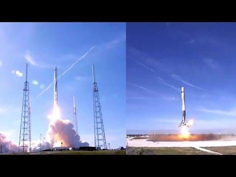 SpaceX CRS-13: Falcon 9 launch & landing, 15 December 2017_Űrhajó videók