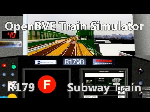 OpenBVE BVE Trainsim - NYCT R179B (F) Subway Train Coney Island Jay St  - subway Simulator mta
