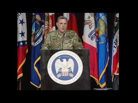 Gen. Mark A. Milley at NGAUS 2015 Screenshot