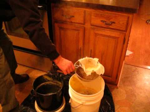 MELTING DOWN CAPPING'S INTO WAX IN THE KITCHEN