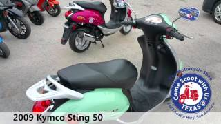6. 2009 Kymco Sting 50 green used moped