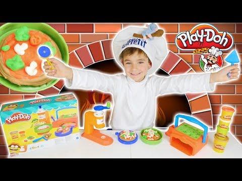 JEU - LA PIZZERIA - Les Bonnes Pizza de Swan ! - Pâte à modeler Play Doh Twirl N Top Pizza Shop