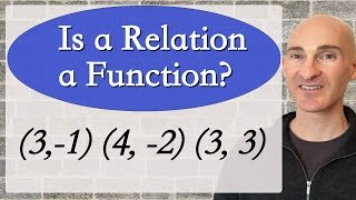 Learn whether a relation is a function in this free math video tutorial by Mario's Math Tutoring. We discuss tables, mapping diagrams, graphs, and coordinates.Looking to raise your math score on the ACT and new SAT? Check out my Huge ACT Math Video Course and my Huge SAT Math Video Course for sale athttp://mariosmathtutoring.teachable.comFor online 1-to-1 tutoring or more information about me see my website at:http://www.mariosmathtutoring.com