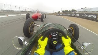 One of the smallest and least powerful cars at the Rolex Monterey Motorsports Reunion turns out to be the most amazing visor...