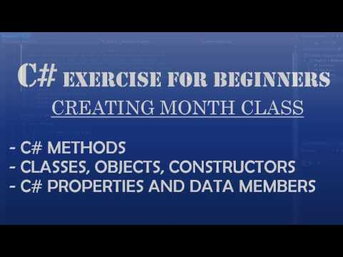 C# How to Program: Creating Month Class. C# OOP, Properties, Methods, ToString() and C# DateTime Classes