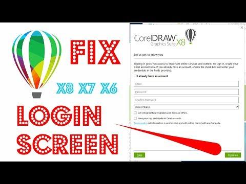 coreldraw login screen