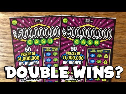 DOUBLE WINS? 2X $20 $500,000,000 Cash! ✦ TEXAS LOTTERY Scratch Off Tickets