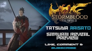 """'Samurai' is the new Melee DPS being added to Final Fantasy XIV in the new expansion, Stormblood. Taken from the FFXIV FanFest 2017 in Frankfurt, Germany....I KNEW it wasn't going to be a Tank :DIf you like this video, please hit """"Like"""" or """"Subscribe"""" for more videos! ^,^-------------------------------------------------------------------------------------------------------------------------------------------------------------The Boring Junk! :P-------------------------------------------------------------------------------------------------------------------------------------------------------------Watch me live on Twitch!http://twitch.tv/tatsuya227Enjoy the music from my Soundcloud!https://soundcloud.com/jordin-iuvaleFollow me on Twitter!https://twitter.com/TatsuyaArisatoFINAL FANTASY® XIV: A Realm Reborn™https://store.sonyentertainmentnetwor...FINAL FANTASY is a registered trademark of Square Enix Holdings Co., Ltd.FINAL FANTASY XIV © 2010-2015 SQUARE ENIX CO., LTD. All Rights Reserved."""