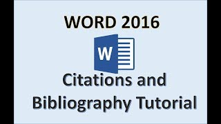 2. Word 2016 - Create Citation and Bibliography How to Tutorial in Microsoft Office 365 with Windows 10