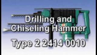 Drilling and Chiseling Hammer Demonstration | CS Unitec