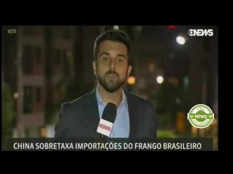 Globo News - China sobretaxa importações do Frango brasileiro