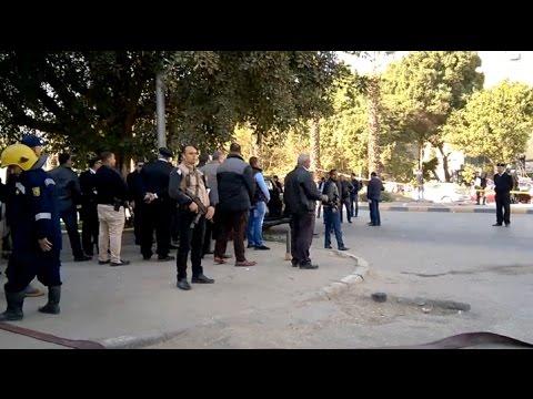 «مدير الأمن» يصل موقع «انفجار الهرم»