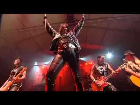 2012 ALICE COOPER BAND: CHUCK GARRIC - BASS ORIANTHI - GUITAR RYAN ROXIE - GUITAR TOMMY HENRIKSEN - GUITAR GLEN SOBEL - DRUMS  ALICE COOPER PERFORMS BRUTAL PLANET AT BONNAROO 2012