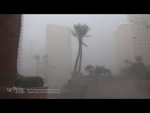 Intense Hurricane Irma Eyewall Impact and TORNADO in Marco Island
