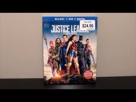Justice League Blu-Ray UNBOXING