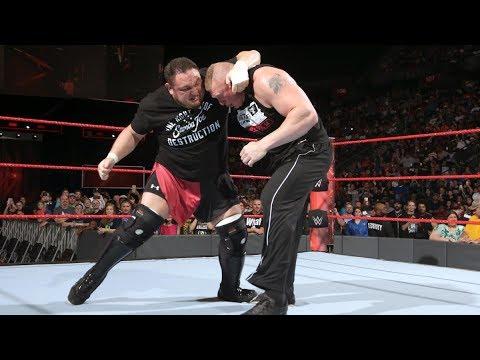 Brock Lesnar confronts Samoa Joe: Raw, June 12, 2017