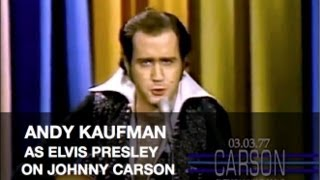 Andy Kaufman doing Foerign Man To Elvis Andy Kaufman