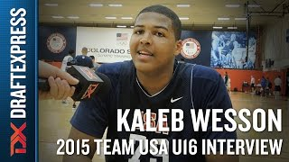 Kaleb Wesson 2015 Team USA U16 Interview - DraftExpress