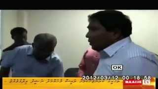 Inside Police HQs - 7 Feb. Opposition. leader, MP-Businessman, one-time Gayoom's Finance Minister Gasim was ready to resort to military force had Nasheed ref...