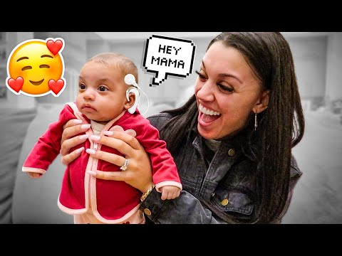 AYLA CAN HEAR FOR THE FIRST TIME **SHOCKING REACTION**