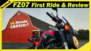 9. Yamaha FZ-07 (MT-07) FIRST RIDE & Review | FZ-07 vs CBR500r