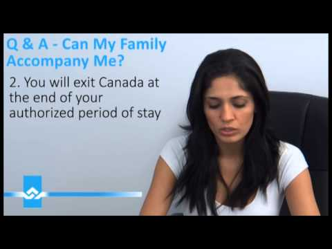 Can My Family Accompany me in Canada Video