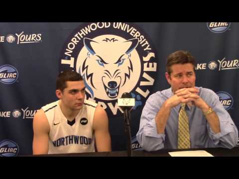 Northwood University Men's Basketball (2/4/16) NU 75, Hillsdale 60 - Press Conference