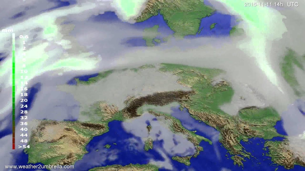 Precipitation forecast Europe 2015-11-07