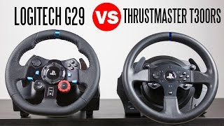 Logitech G29 Driving Force Racing Wheel vs Thrustmaster T300RS - Full Comparison