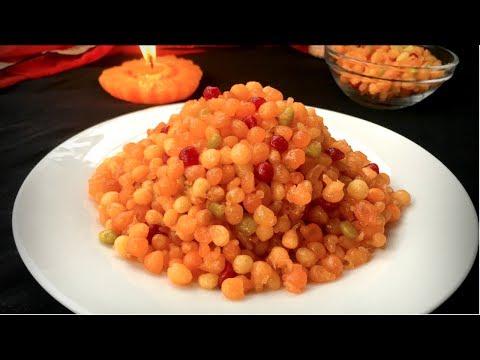 মিষ্টি বুন্দিয়া || Boondia/Boondi/Borinda Recipe Bangla || How To Make Bundia