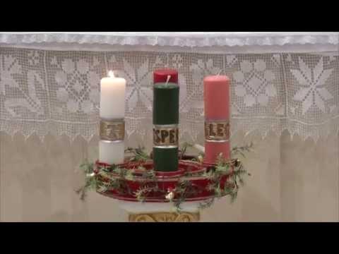 VÍDEOS: Coroa do Advento e Homilia do Pe. Julio em 30/11/2014