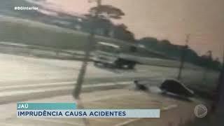 Ciclista fica ferido após ser atropelado por carro em Jaú