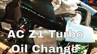 8. Arctic Cat Z1 Turbo Oil Change Overview