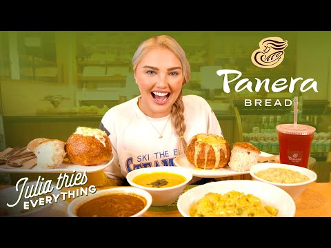 Trying ALL Of The Most Popular Menu Items At Panera | Delish