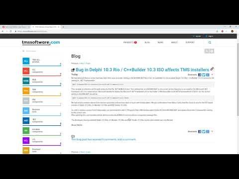 Delphi 10.3 Rio support for TMS Components
