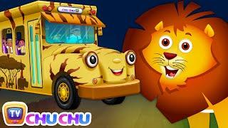 Wheels On The Bus | Kenya Jungle Book Wildlife Safari | Wild Animals and Animal Sounds | ChuChu TV