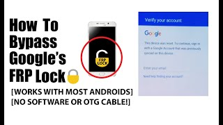 Video How to Bypass the Google FRP lock (WITHOUT SOFTWARE OR OTG CABLE) MP3, 3GP, MP4, WEBM, AVI, FLV September 2019