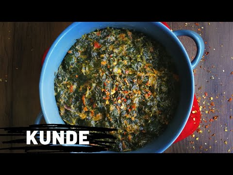 KUNDE   How to prepare Tasty Kunde/Cowpeas Leaves   Creamy Kunde & Terere   #withme  #cookwithme