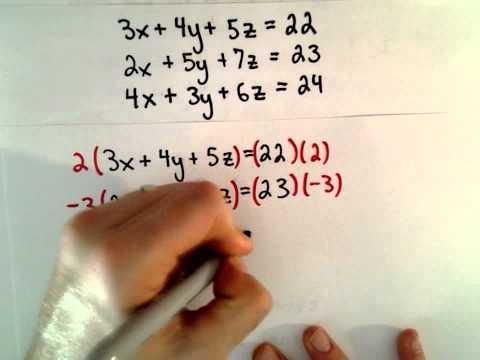 Word-Problem: System von linearen Gleichungen, 3 Unbekannte, 3 Variablen