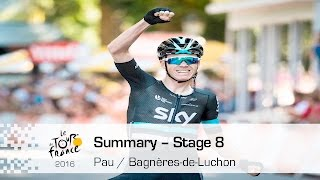 Bagneres-de-Luchon France  city photos : Summary - Stage 8 (Pau / Bagnères-de-Luchon) - Tour de France 2016