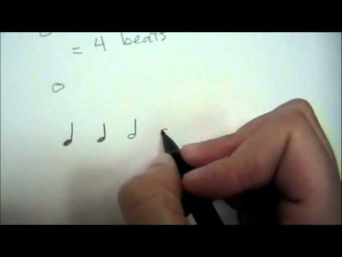 Lesson 1 - Quarter, Half, Whole, and Dotted Half Notes