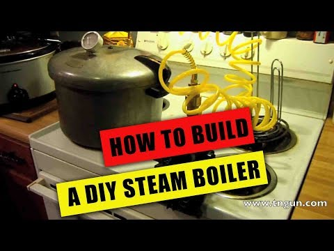 diy steam engine - Visit http://www.tngun.com/diy-steam-engine-boiler/ to read more We took a used pressure canner and modified it to power a steam engine made from a modified ...