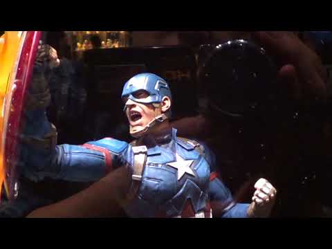 CAPTAIN AMERICA CIVIL WAR MARVEL MILESTONES STATUE CAPTAIN AMERICA 41 CM - Diamo