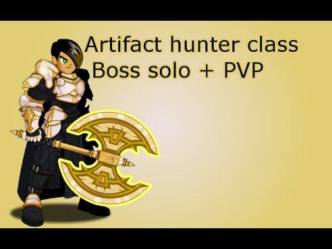 AQW Artifact hunter class boss solo + PVP